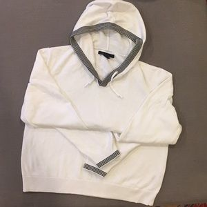 Kenneth Cole white sweater hoodie